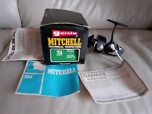 Moulinet Mitchell 204 Garcia boîte Notice et Garanti Etat neuf As New