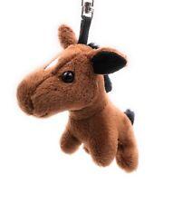 Plüsch / Kuschel / Stoff Tier Schlüsselanhänger Pferd braun stehend 17 cm