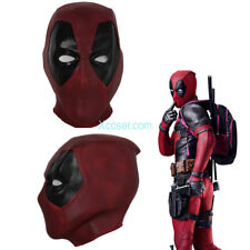 Deadpool Full Head Face Latex Mask Halloween Cosplay Costume Replica Prop Unisex