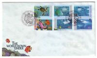 "1995 FDC Australia. The World Down Under. Octopus Pict PMK ""TOWNSVILLE"""