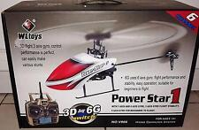 WLTOYS V966 POWER STAR 1 6CH 2.4G BRUSHLESS 3D FLYBARLESS RC HELICOPTER HOT R5W0