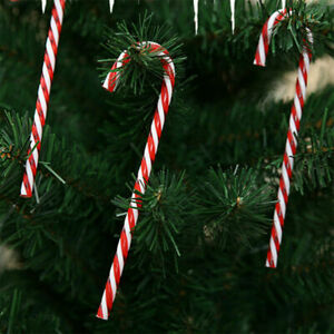 10x Large Plastic Candy Cane Christmas Tree Hanging Decor Xmas Prop Ornament UK