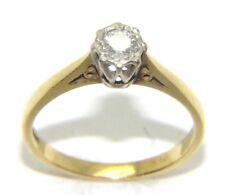 Mujer 18 Quilates 18ct Oro Amarillo Anillo De Compromiso Diamante Solitario