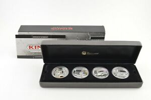 2010 Tuvalu $1 Kings Of The Road 1 T Oz Silver Coin 4 Coin Set - Box & COA *9438