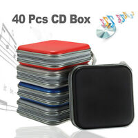 40 Disc DVD CD Holder Wallet Car Carry Storage Case Album Bag Sleeve Hard Box