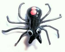 Black Widow SPIDER Realistic 3D Black Glass Button w/Moveable Legs- Mary Gaumond