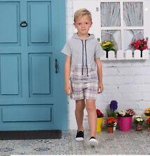 SEWING PATTERNS Paper Pattern boy's HOODIE SWEATSHIRT+SHORTS spanish kids outfit