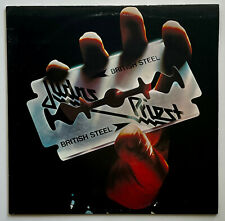 ORIGINAL Vtg 1980 JUDAS PRIEST Album BRITISH STEEL Vinyl 1ST PRESS Lp EXCELLENT