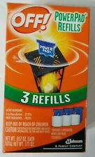 OFF! PowerPad Refills 3 Unscented Mosquito Repellent Pads & Candles - NEW