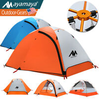 2 Person Camping Tent Backpacking Ultralight Waterproof Double Layer Easy Set Up