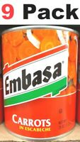 Embasa Pickled Carrots - Zanahorias en Escabeche - 26 Oz Each ( 9 Pack ) New