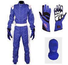 LRP Adult Kart Racing Suit- Speed Suit Package Deal 1 Blue/White