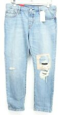 New Levis Womens 501 CT Custom Taper Cotton Cropped Denim Jeans 6 Med / 28 x 32