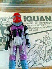 M.A.S.K Action Figure Sludge and Mattel  Iguana vehicle pamphlet