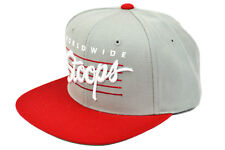 HUF X STARTER - WORLDWIDE STOOPS SNAPBACK GREY RED AUTHENTIC - IMPORTED FROM USA