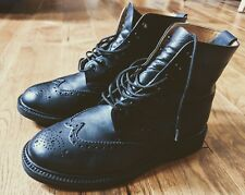 Alfred Sargent Montrose Boots, Made in England, Black Brogue, Vibram sole, UK9FX