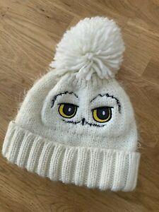 Harry Potter Hedwig Bobble Hat White Owl