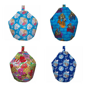 Childrens Room Frozen TMNT Shopkins Kids Pre Filled Indoor Beanbag Seat Gift