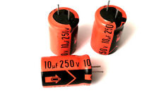 10uF 250V RADIAL ELECTROLYTIC CAPACITOR 13x20 mm (10 pieces)