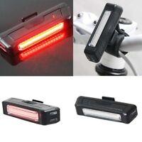 USB LED  Bike Front Rear Tail Light Rechargeable Warning Lamp Waterproof 2018 EN
