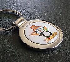 Pinguin Schlüsselanhänger Pinguin Bauer als 3D Farbdruck inkl. eigene Textgravur