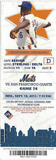 Dwight Gooden 4x All-Star Mets vs. Giants Citi Stub Sept 18 2013 Game 76