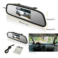 "Car Rearview mirror monitor 4.3"" TFT LCD Rear view Backup Color Monitor Screen"