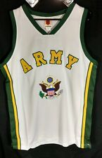 ARMY Military Polyester Embroidered Basketball Jersey White Size Large L NWT