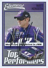 MATT KENSETH AUTOGRAPHED 2011 WHEELS ELEMENT RACING NASCAR TRADING CARD #91