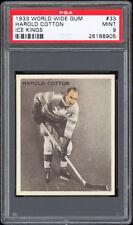 1933-34 V357 1933 World Wide Ice Kings #33 Harold Cotton PSA 9 Pop 1 (Bilingual)