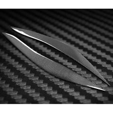 Carbon Fiber For BMW F10 Sedan 5-Series Front Headlight Eyebrows Eyelids 2PCS