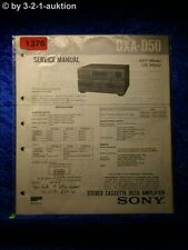 Sony Service Manual DXA D50 Cassette Deck Amplifier (#1376)