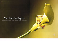 PUBLICITE ADVERTISING  2000   VAN CLEEF & ARPELS  collection montre (2 pages)