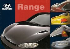 Hyundai 1998 UK Market Sales Brochure Accent Lantra Coupe Sonata