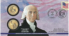 2007 James Madison $1 First Day Issue Coin Cover (P24) OMP Denver & Philadelphia