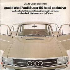 Brochure Depliant Auto-Union Audi Super 90 1967 Italiano