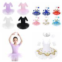 Girls Ballet Dress Dance Tutu Skirts Gymnastic Performance Sequined Sets Costume