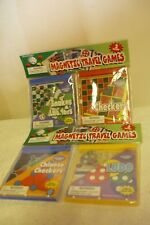 SET  OF  4  MAGNETIC  TRAVEL  GAMES  -  NEW -  STILL SEALED IN 2 PACKAGES