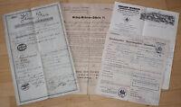 Estate 4 Paper Document - Bills 1818 - 1925 Limbach Saxony