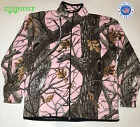 ZooFleece Pink Camouflage Women's Sweater Winter Jacket Tree Coat Hunting S-3X