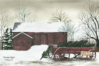 Art Print, Framed, Plaque By Billy Jacobs - Christmas Wagon - BJ154