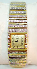 Gorgeous Gent's Formal Polo Style Watch 119 gr 14K Gold & 6 carats of Diamonds