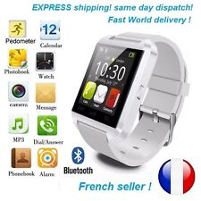 White Smart Watch Bluetooth Connected mobile phone Android IOS New 2017