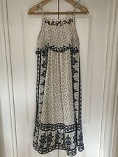 9//10 Years Size Girls White//Blue Party Outfit Full Length Maxi Dress MD116