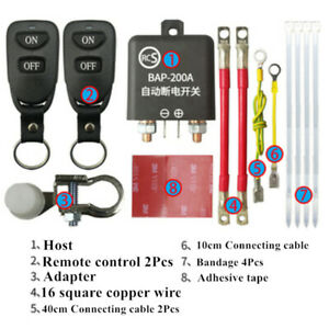 Wireless Car Battery Disconnect Isolator Power Remote Cut Off Master Kill Switch