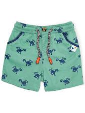 John Lewis Baby Monkey PRINTS Shorts Green 3-6 MTHS BEST PRICE FREE P&P
