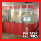 RED/CLEAR HORSEBOX MANUFACTUE WORKSHOP RETRACTABLE CURTAINS HEAVY DUTY TRACK