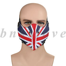 Outdoor Leather British Flag Half Face Cover Anti-dust sports Motorcycle Shield