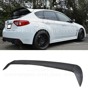 For 08-14 Subaru Impreza WRX STI Hatch Rear Spoiler Add On Wing Wagon Body Kit