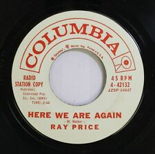 Country Promo 45 Ray Price - Here We Are Again / Soft Rain On Columbia